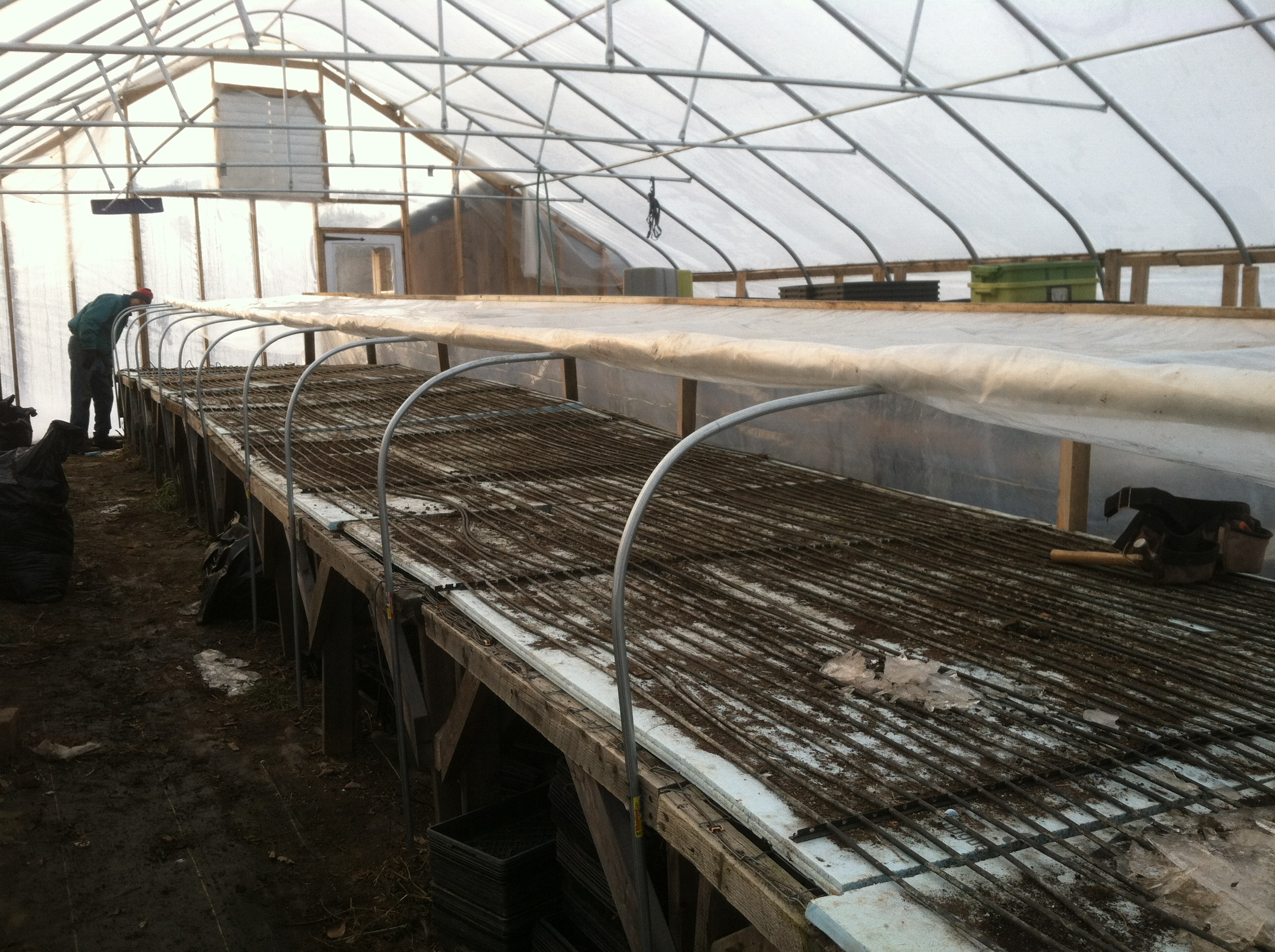 Roll Top Greenhouse Bench