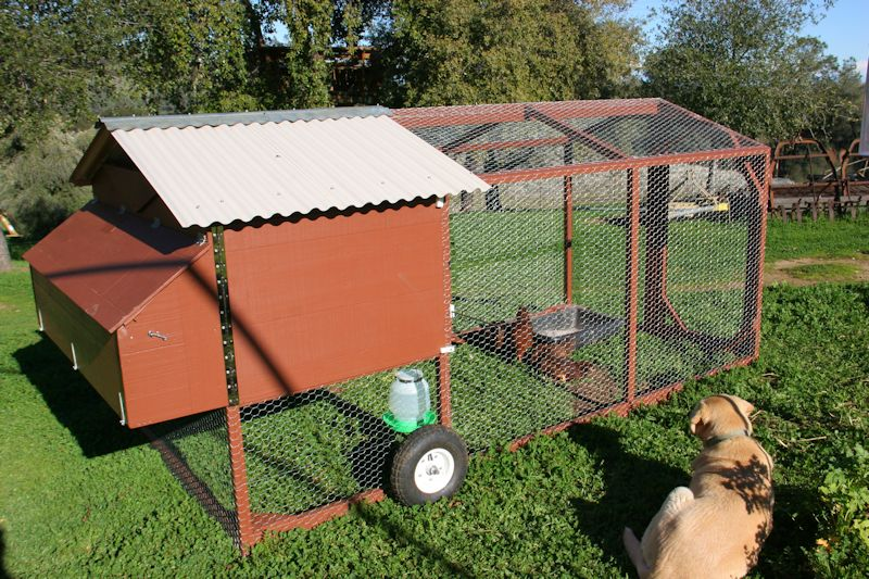 Mobile chicken coop farm hack for Mobile chicken coops