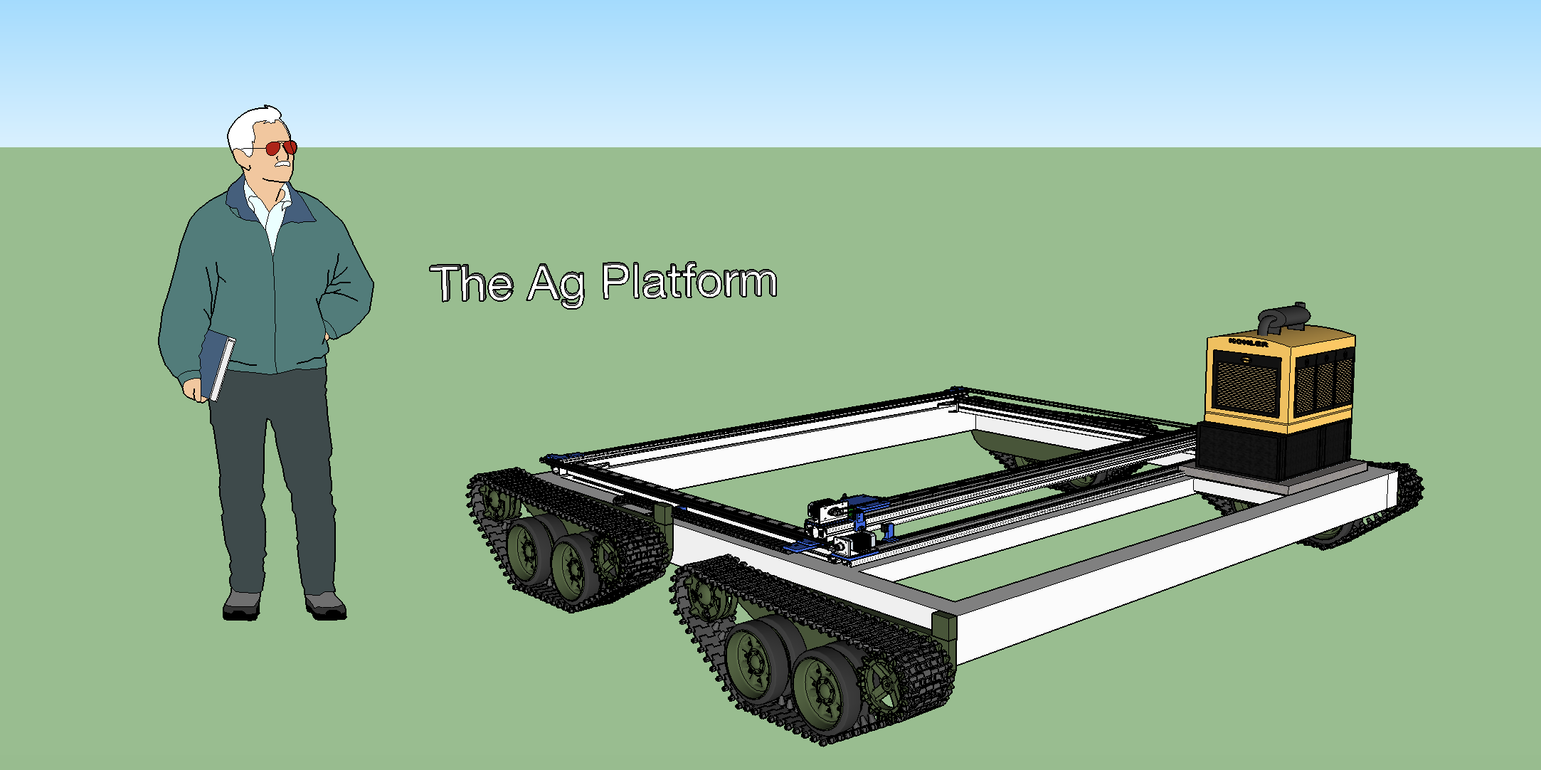 Conceptual scaled 'farmbot'