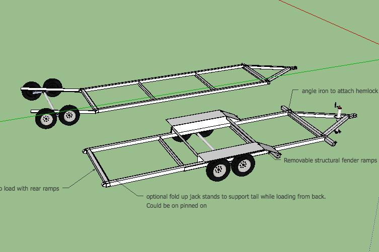 lay flat trailer