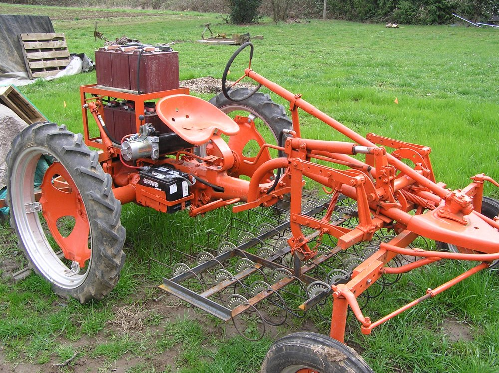 Tractor With Tools : Electric tractor conversion farm hack