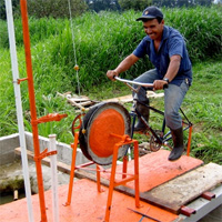 Pedal-Powered Power Tools