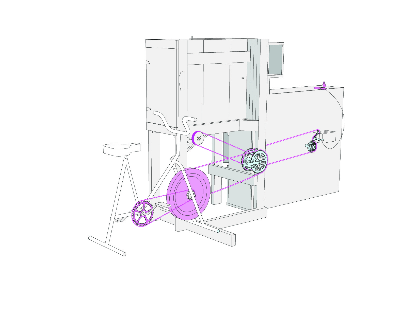 Bicycle Powered Fanning Mill