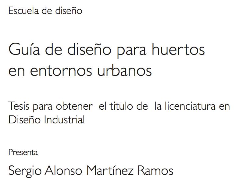 Guia de diseño para huertos Urbanos (Urban Agriculture Guide)