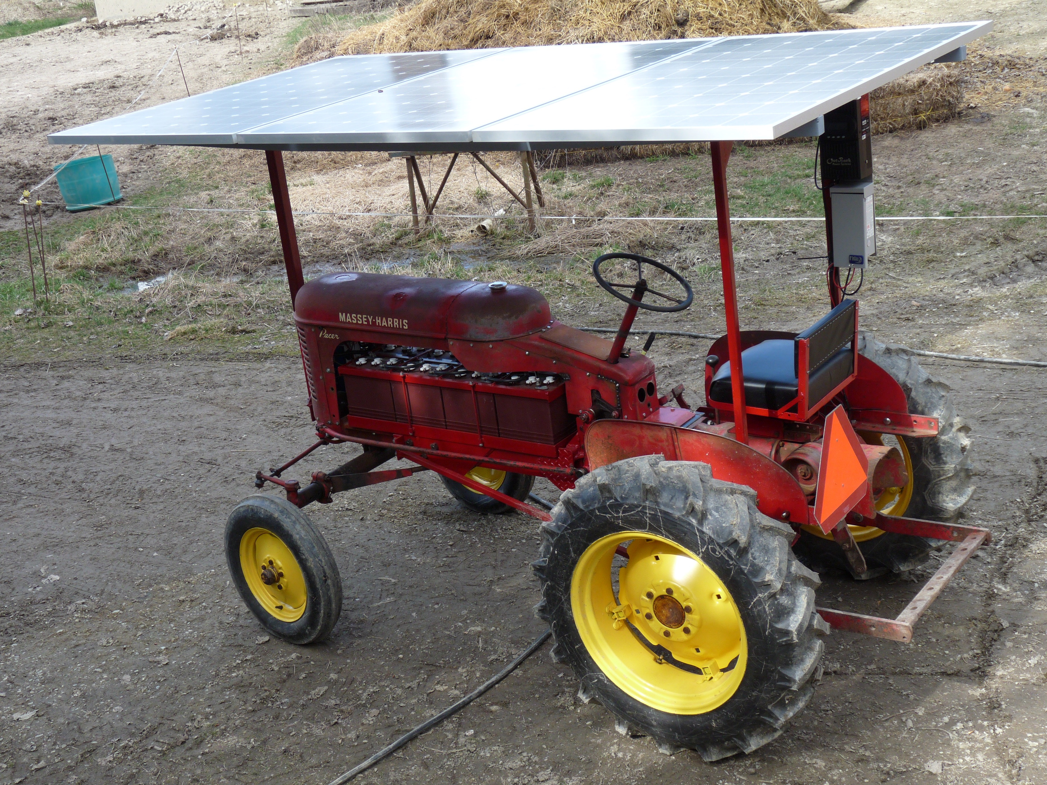 solar electric tractor Sparky