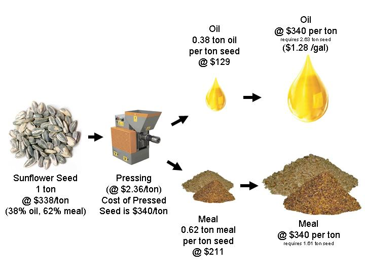Oilseed, Oil, Meal and Biodiesel Cost Calculator
