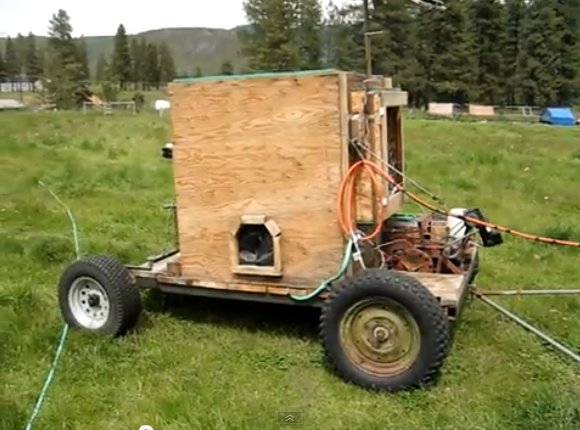 Solar-powered Chicken Tractor