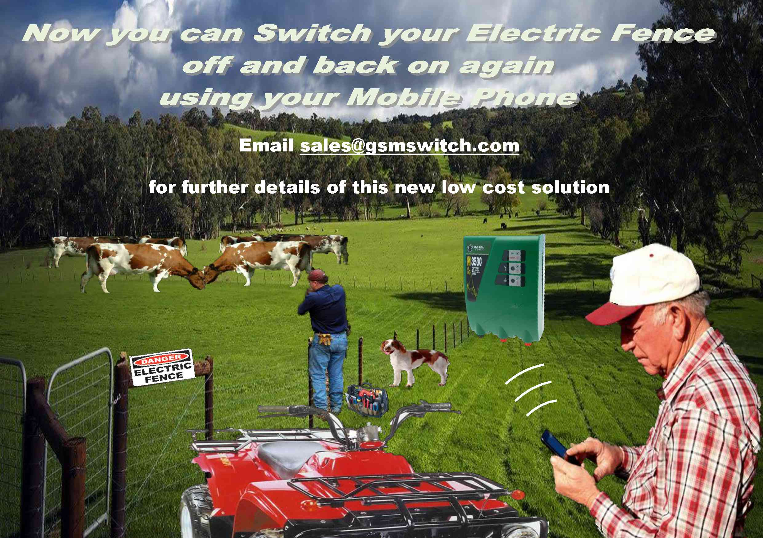 New Cell Phone Electric Fence Controlller