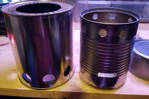 Step Drill Bit >> DIY Bush Buddy gasification camp stove | Farm Hack