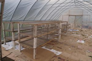 """Toppers"" have conventional legs, and are intended for supporting lightweight material like bird netting or greenhouse plastic."