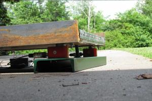 homemade cattle scales weigh deck