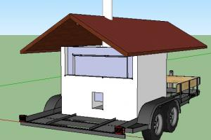 Rocket Oven on a Trailer with a roof