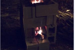image of rocket stove