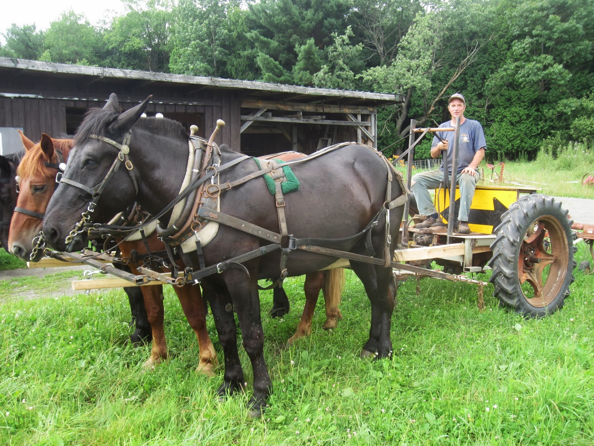 Ground-Driven PTO Forecart converted from antique tractor | Farm Hack