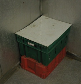 HDPE Tote Lids for Walk-in Cooler Produce Totes